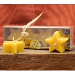 Stern glatt 4 er Set je ca. 2,5 x 5,5 cm