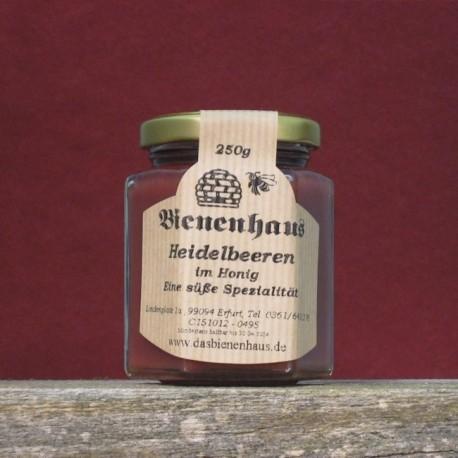 Heidelbeeren in Honig